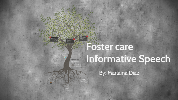 the history of foster care informative speech