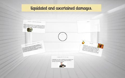 ascertained damages