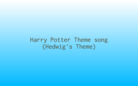 harry potter theme song with words