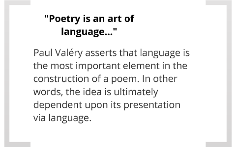 Poetry and Abstract Thought: Paul Valéry by Emily Conklin on