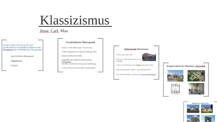 Geschichtlicher hintergrund klassizismus