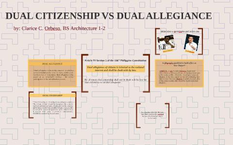 DUAL CITIZENSHIP VS DUAL ALLEGIANCE by Clarice Orbeso on Prezi