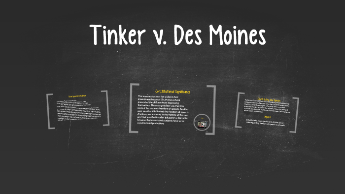 Tinker v  Des Moines by Emma Shepherd on Prezi