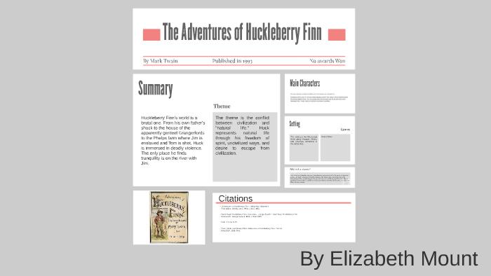 major themes in the adventures of huckleberry finn