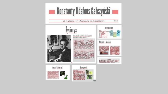 Konstanty Ildefons Gałczyński By Martyna Druzbiak On Prezi