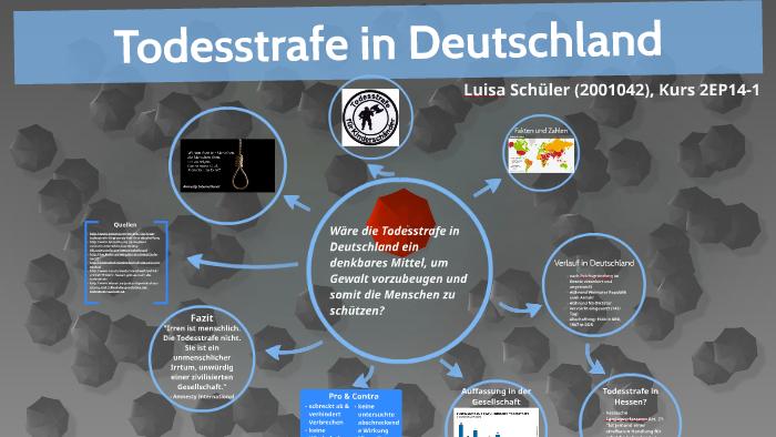Todesstrafe In Deutschland By Luisa Schuler