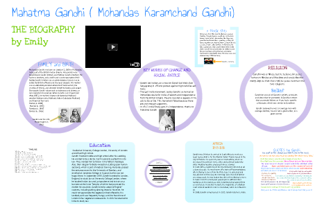 Mahatma Gandhi by Emily deAwesome on Prezi