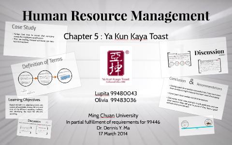 ya kun kaya toast case study solution