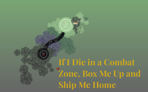 thesis of if i die in a combat zone