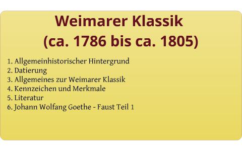 Weimarer Klassik By Jana Hoffmann On Prezi
