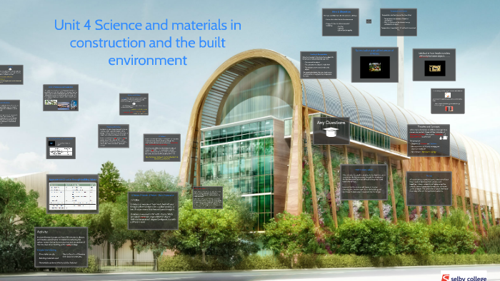 science and materials in construction