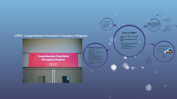 comprehensive psychiatric emergency program