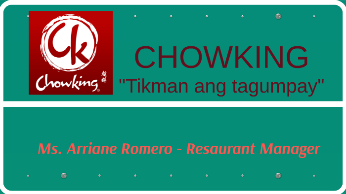 chowking mission and vision