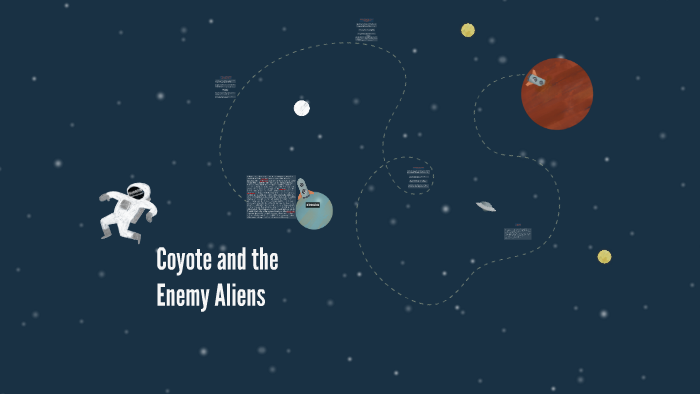 coyote and the enemy aliens king thomas