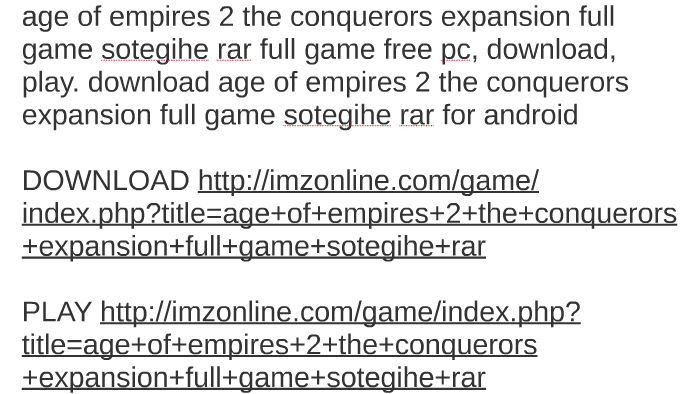 age of empires 2 the conquerors download full version