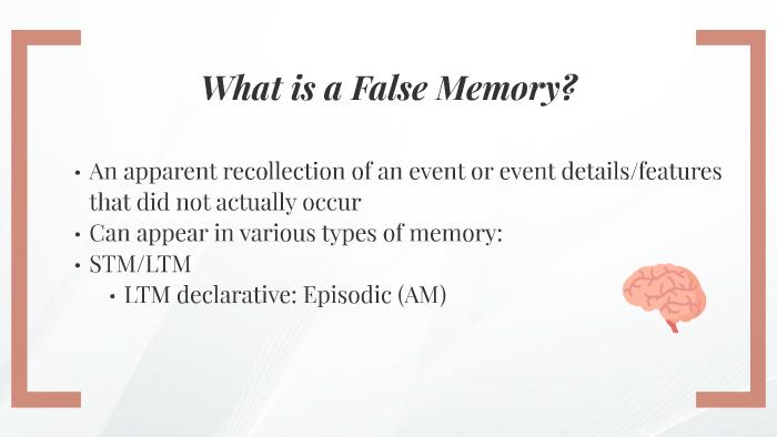 False Memory By Hedda Doe