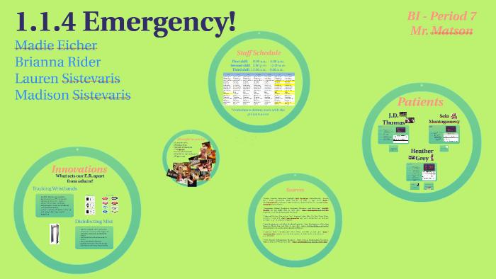 1 1 4 Emergency By Lauren Sistevaris