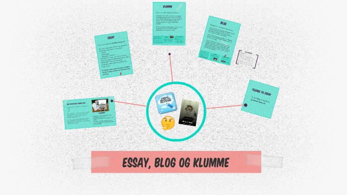 forskellen på klumme og essay