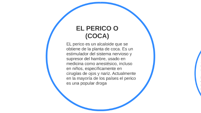 cocaina y perico diferencias