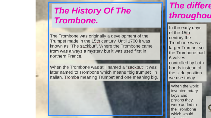 The history of the Trombone  by Orion Commanda on Prezi