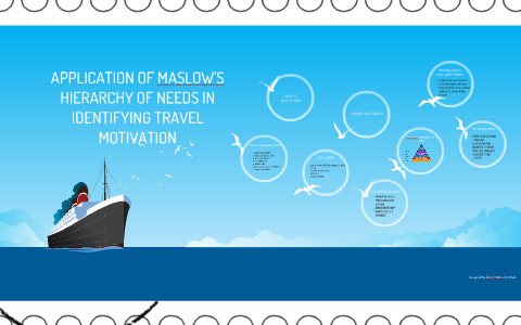 APPLICATION OF MASLOW'S HIERARCHY OF NEEDS IN TRAVEL MOTIVAT