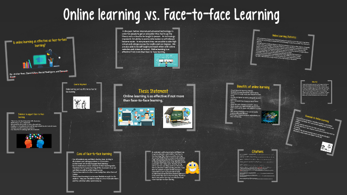 is online learning as good as face to face learning