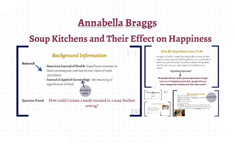 Soup Kitchens And Their Effect On Happiness By Annabella