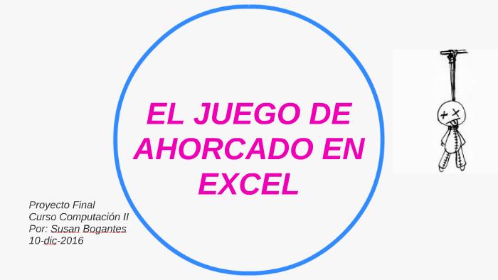 El Juego De Ahorcado En Excel By Susan Bogantes A