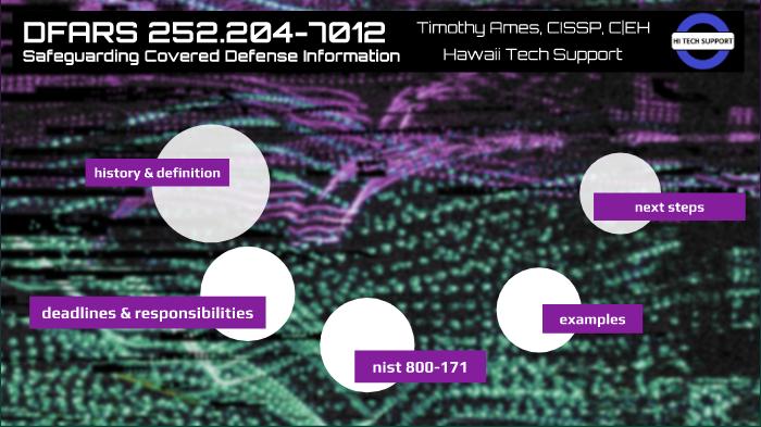 DFARS 252 204-7012 by Timothy Ames on Prezi Next