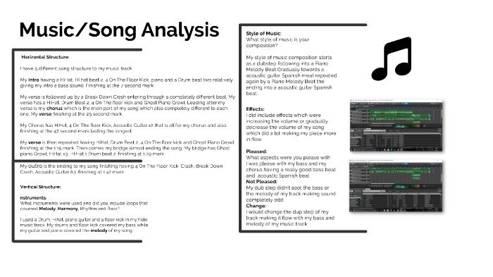 Music Analysis by Tanio Baron on Prezi Next