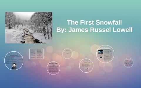 the first snowfall poem summary