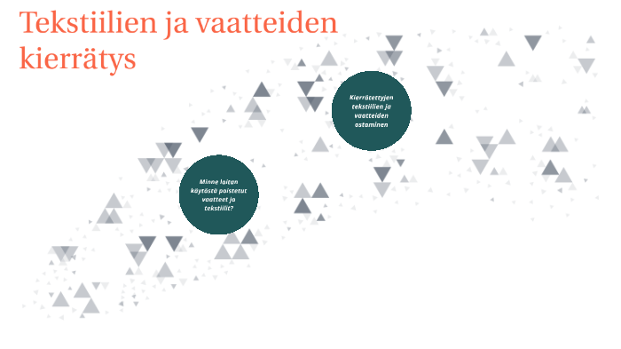 Tekstiilien kierrätys by Kestävä Tekstiili on Prezi Next e5809aef96