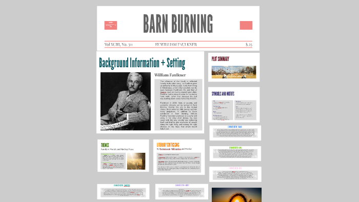 barn burning plot