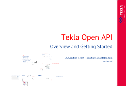 Tekla Open API Basic Training - Overview and Getting Started by