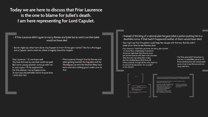 friar lawrence quotes about marrying romeo and juliet