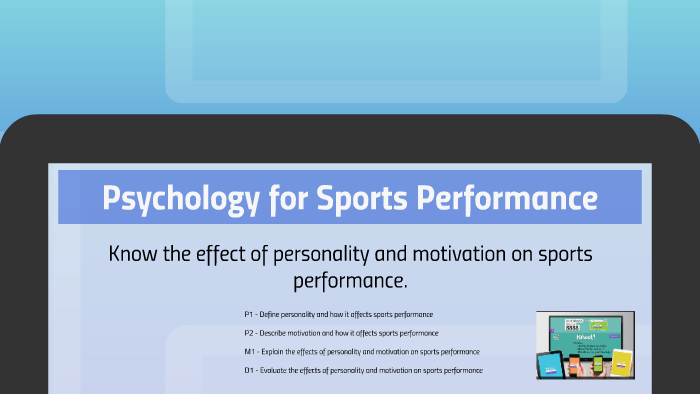 effects of personality and motivation on sports performance