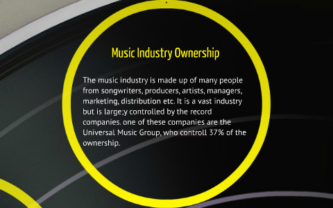 Universal Music Group Organisational Structure by Tarik Daley-Ward