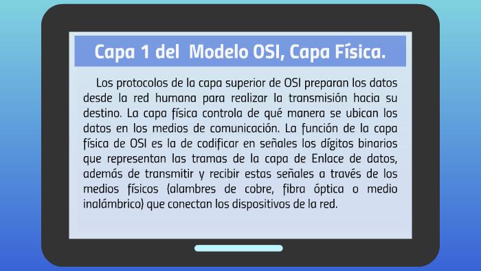 Capa 1 del Modelo OSI, Capa Física  by José Pérez on Prezi
