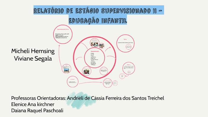 Relatório De Estágio Supervisionado Ii Educação Infantil