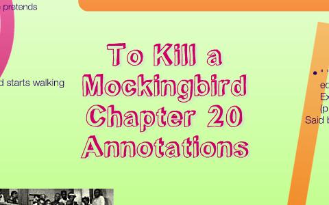 to kill a mockingbird chapter 20 analysis