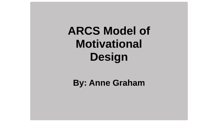 Arcs Model Of Motivational Design By Anne Graham