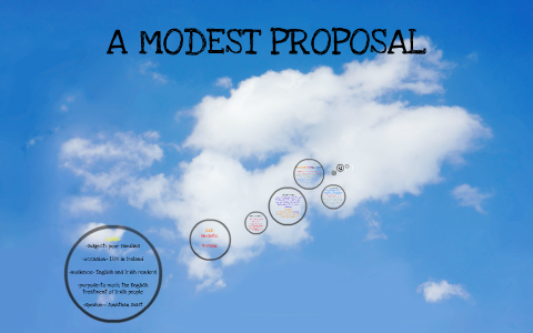 a modest proposal tone