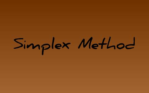 Simplex Method by Avneet Singh on Prezi
