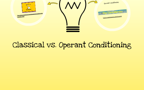 classical vs operant conditioning