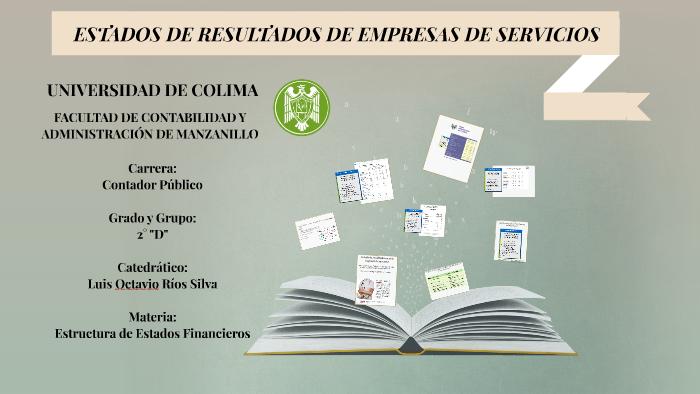 Estados De Resultados De Empresas De Servicios By Miguel
