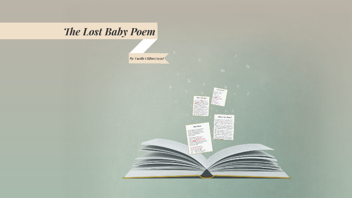 the lost baby poem
