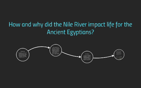 How and why did the Nile River impact life for the Ancient