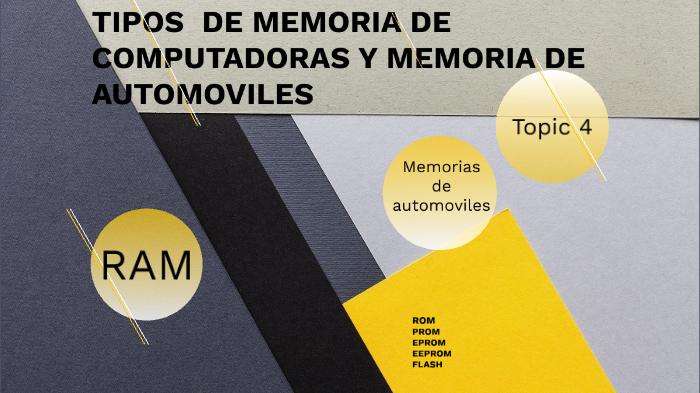 tipos de memoria de computadoras y tipos de memoria de