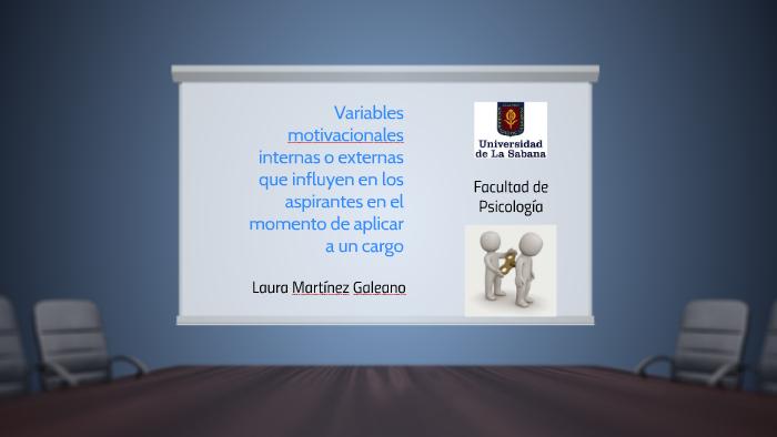 Variables Motivacionales Internas O Externas Que Influyen En