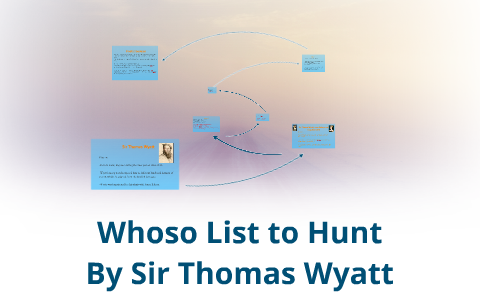 whoso list to hunt analysis